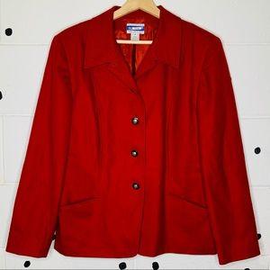 Vintage 80s Pendleton Red 100% Wool Jacket Size 16